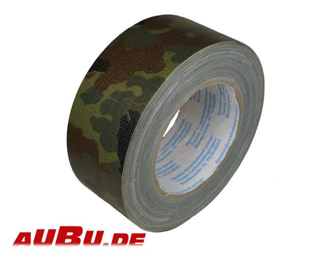 BUNDESWEHR PANZERBAND mm x 25m Flecktarn camouflage 2620-25-50